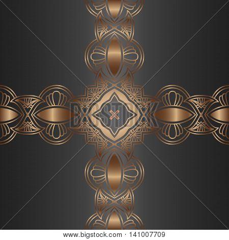 Vector vintage border frame engraving with retro ornament pattern in antique rococo style decorative design, vector