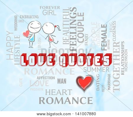 Love Quotes Shows Extracts Inspiration And Adoration