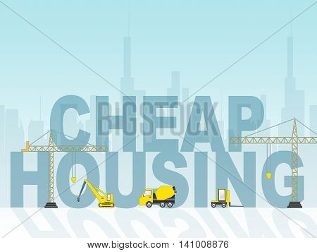 Cheap Housing Indicates Low Cost And Apartment