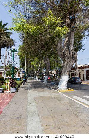 Side Street In The Main Square, Barranco, Peru