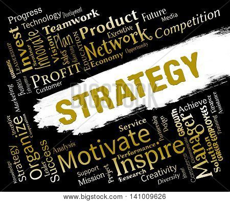 Strategy Words Means Plan Solutions And Tactic