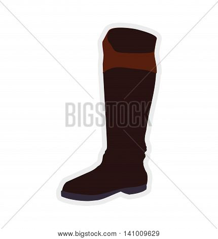boot horse animal ridding sport hobby icon. Isolated and flat illustration. Vector graphic