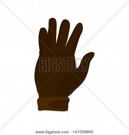glove horse animal ridding sport hobby icon. Isolated and flat illustration. Vector graphic