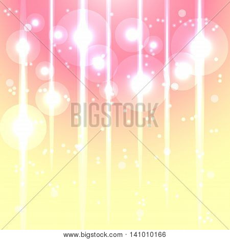 Magic lights glow abstract background stock vector