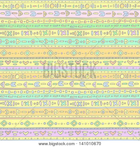 Seamless pattern - gentle ethno background EPS 8 poster
