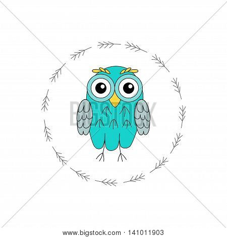 Owl vector birds isolated on white background. vector illustration owl