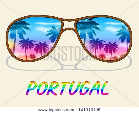 Portugal Holiday Indicates Go On Leave And Europe