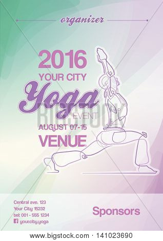 Yoga Event Poster Blue-green & Purple