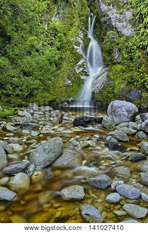 Beautiful Dorothy Falls South Island New Zealand