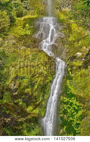 Five Mile Creek Falls Lewiss Pass South Island New Zealand
