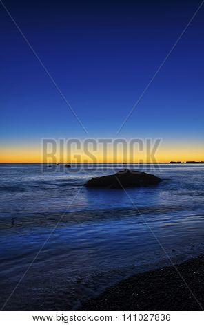 Early morning light Kaikoura Coast South Island New Zealand