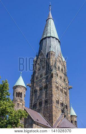 Tower Of The St. Antonius Basilica In Rheine