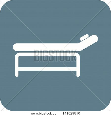 Massage, bed, body icon vector image.Can also be used for spa. Suitable for mobile apps, web apps and print media.
