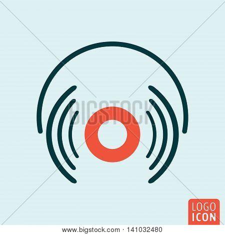 Headphones icon. Headphones simple design. Vector illustration