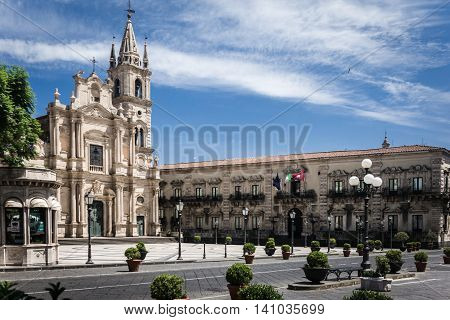 The magnificent Cathedral of Acireale in Sicily