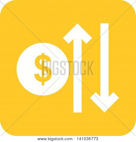 Increase, reduce, cost icon vector image. Can also be used for finances trade. Suitable for use on web apps, mobile apps and print media.