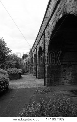 A view of the arches of a railway viaduct in Dunfermline