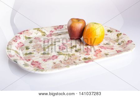 Tray. Plastic Tray On Background. Plastic Tray On A Background.