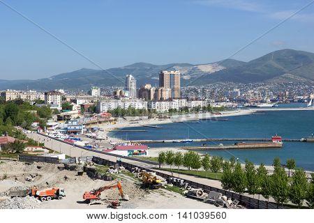 RUSSIA, NOVOROSSIYSK - MAY 9, 2014:Views of Novorossiysk on a sunny day