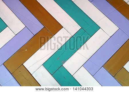 Wooden Multicolored Panel Background Or Texture With Parquet Pattern