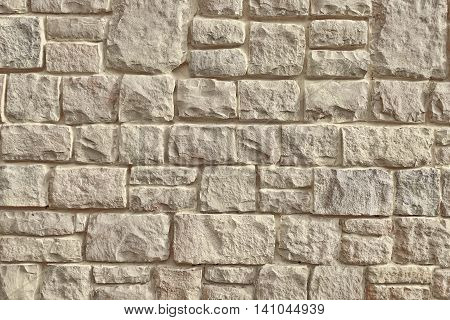 Urban Street Limestone Stone Wall Background Texture, Vintage Modern Facade