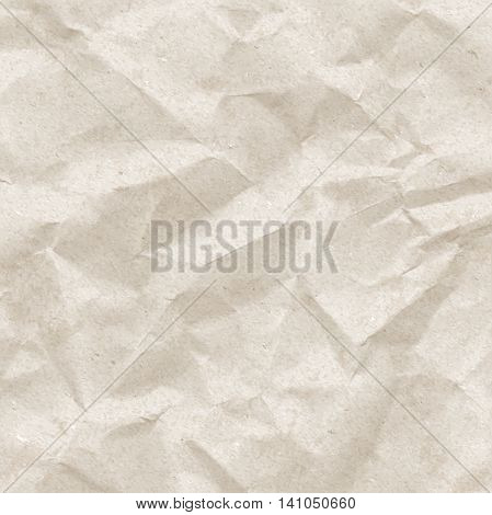 Crumpled pack paper texture vector vintage background