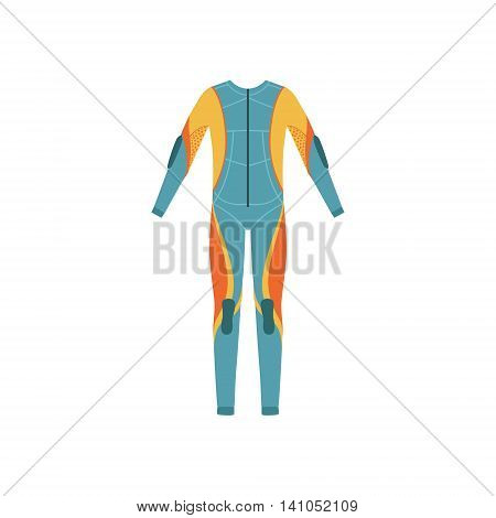 Full Body Neoprene Diving Suit Without A Hood Bright Color Cartoon Simple Style Flat Vector Illustration Isolated On White Background