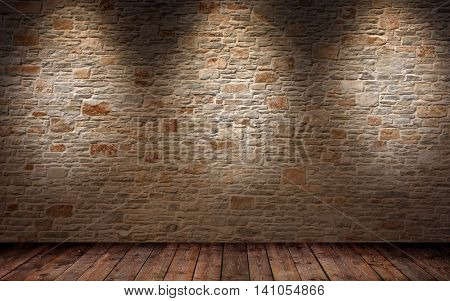 old room with brick wall vintage interior with brick wall background wallpaper