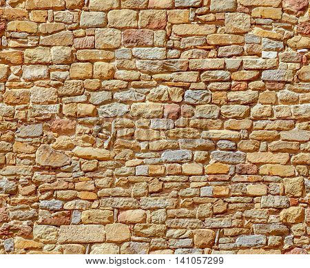 Antique stonework. Stone wall. Detailed seamless pattern