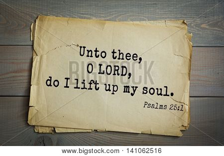 Top 500 Bible verses. Unto thee, O LORD, do I lift up my soul. Psalms 25:1