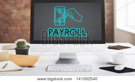 Payroll Salary Payment Accounting Money Concept poster