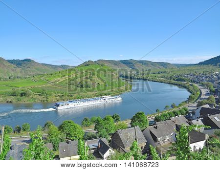 Village of Bremm at Mosel River in Mosel Valley,Rhineland-Palatinate,Germany
