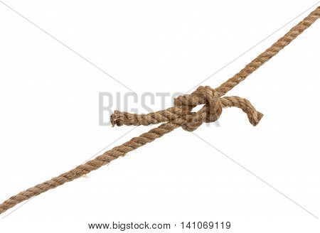 Rope with bowknot isolated on a white.