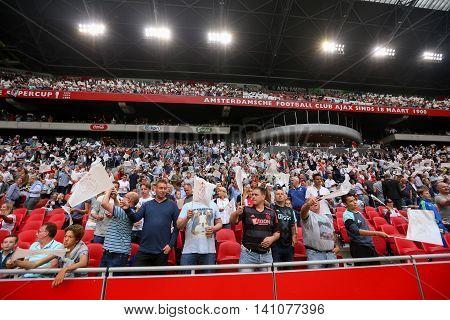 Interior View Of The Full Amsterdam Arena Stadium
