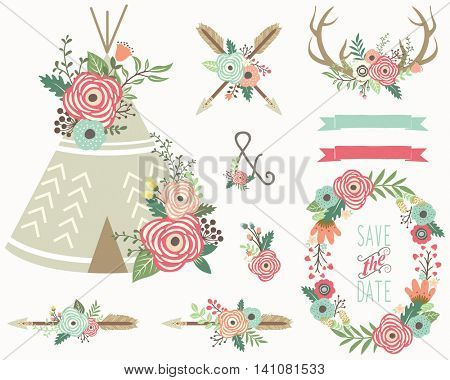 Floral Tribal Collection- Perfect for Weeding, Tribal,  Valentine's, Mother's day and many more.