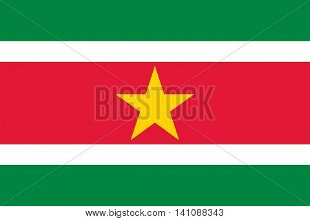 Vector Suriname national flag