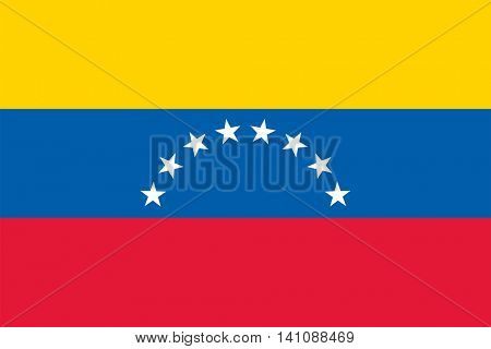 Vector Bolivarian Republic of Venezuela flag