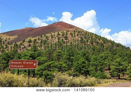 Sunset Crater National Park in Northern Arizona