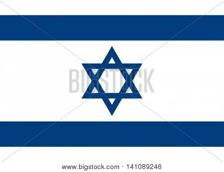 Vector Israel national flag