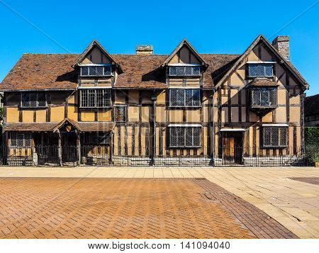 Shakespeare Birthplace In Stratford Upon Avon Hdr
