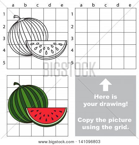 Copy the picture using grid lines easy educational game for kids simple kid drawing
