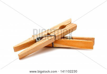 clothespin retro equipment on a white background