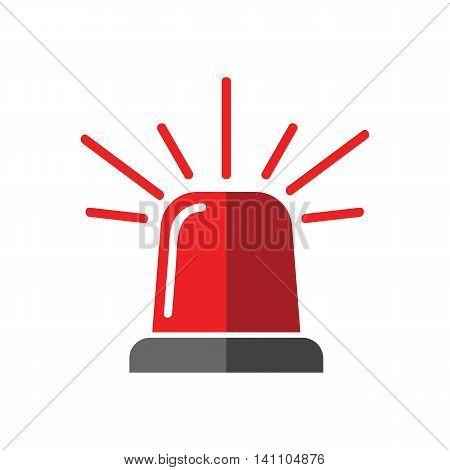 Single design element demonstrating red flasher siren eps 10