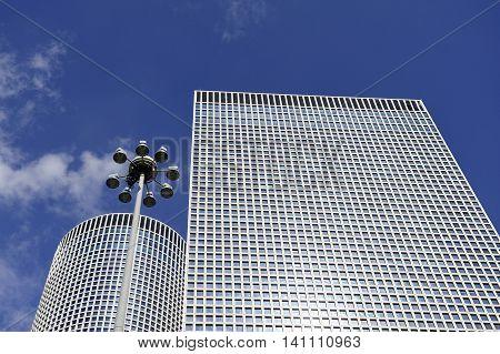 Modern buildings of Azrieli Center in Tel-Aviv Israel.