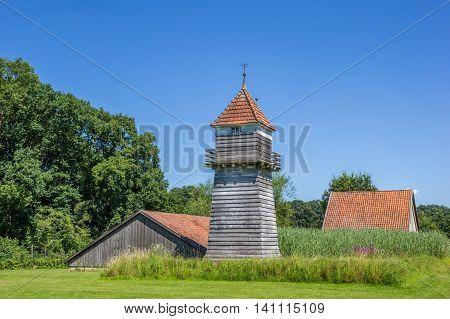 Wooden Tower At The Saline Gottesgabe In Bentlage
