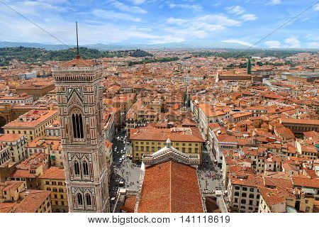 a beautiful view of cityscape of Florence