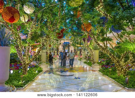 LAS VEGAS - MAY 21 : The Wynn Hotel and casino on May 21 2016 in Las Vegas. The hotel has 2716 rooms and opened in 2005.