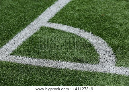 Close-up Of A Football Field Corner