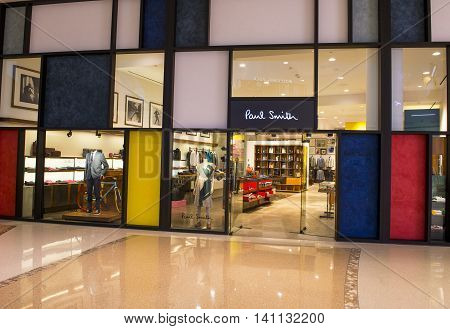 LAS VEGAS - MAY 21 : Exterior of a Paul Smith store in Las Vegas strip on May 21 2016. Paul Smith is a British designer with more than 300 shops worldwide.
