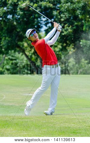 CHONBURI - JULY 31 : Jazz Janewattananond of Thailand in King's Cup 2016 at Phoenix Gold Golf & Country Club Pattaya on July 31 2016 in Chonburi Thailand.